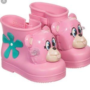 Mini melissa & Jeremy Scott rain boots size6/7